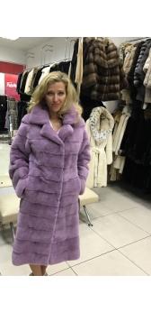 Пальто из цветной норки