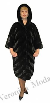 Полупальто из норки  black velvet